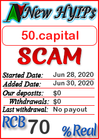 50.capital status: is it scam or paying