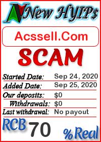 Acssell.Com status: is it scam or paying