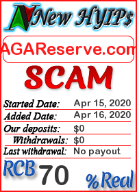 AGAReserve.com status: is it scam or paying