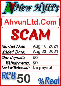 AhvunLtd.Com status: is it scam or paying