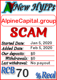 AlpineCapital.group status: is it scam or paying