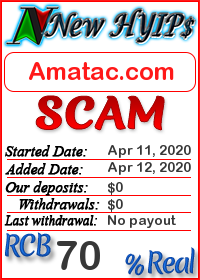Amatac.com status: is it scam or paying