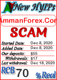AmmanForex.Com status: is it scam or paying