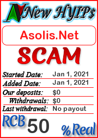 Asolis.Net status: is it scam or paying