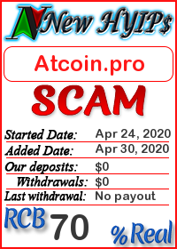 Atcoin.pro status: is it scam or paying