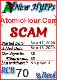 AtomicHour.Com status: is it scam or paying
