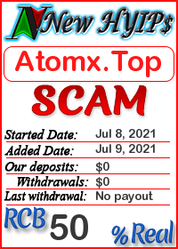 Atomx.Top status: is it scam or paying