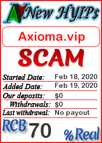 Axioma.vip status: is it scam or paying