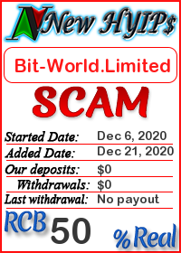 Bit-World.Limited status: is it scam or paying