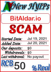 BitAldar.io status: is it scam or paying