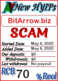 BitArrow.biz status: is it scam or paying
