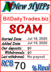 BitDailyTrades.biz status: is it scam or paying