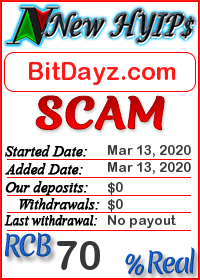 BitDayz.com status: is it scam or paying