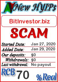 BitInvestor.biz status: is it scam or paying