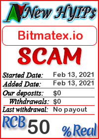 Bitmatex.io status: is it scam or paying