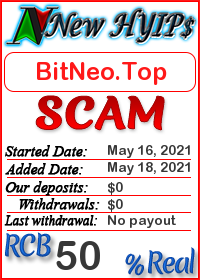 BitNeo.Top status: is it scam or paying