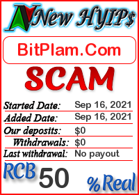 BitPlam.Com status: is it scam or paying