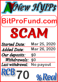 BitProFund.com status: is it scam or paying
