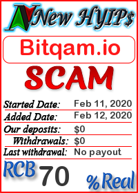 Bitqam.io status: is it scam or paying