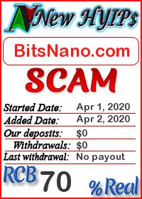 BitsNano.com status: is it scam or paying