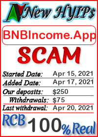 BNBIncome.App status: is it scam or paying