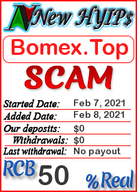 Bomex.Top status: is it scam or paying