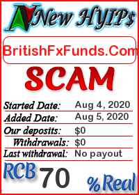 BritishFxFunds.Com status: is it scam or paying