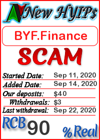 BYF.Finance status: is it scam or paying