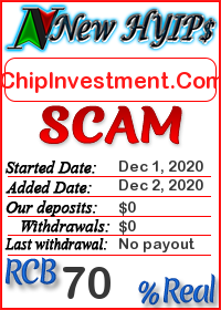 ChipInvestment.Com status: is it scam or paying