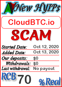 CloudBTC.io status: is it scam or paying
