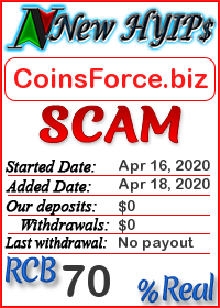 CoinsForce.biz status: is it scam or paying