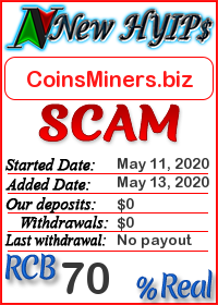 CoinsMiners.biz status: is it scam or paying