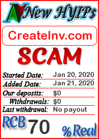 CreateInv.com status: is it scam or paying