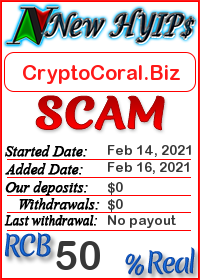 CryptoCoral.Biz status: is it scam or paying