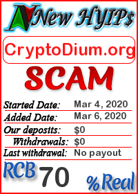 CryptoDium.org status: is it scam or paying
