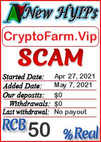 CryptoFarm.Vip status: is it scam or paying