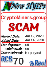 CryptoMiners.group status: is it scam or paying