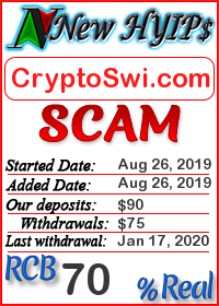 CryptoSwi.com status: is it scam or paying