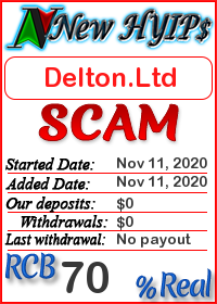 Delton.Ltd status: is it scam or paying