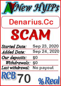 Denarius.Cc status: is it scam or paying