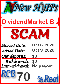 DividendMarket.Biz status: is it scam or paying