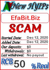 EfaBit.Biz status: is it scam or paying