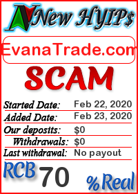 EvanaTrade.com status: is it scam or paying