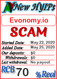 Evonomy.io status: is it scam or paying