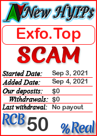 Exfo.Top status: is it scam or paying