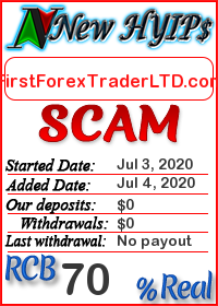 FirstForexTraderLTD.com status: is it scam or paying