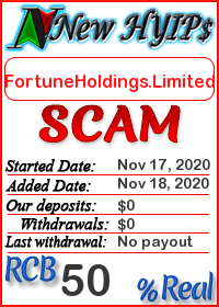 FortuneHoldings.Limited status: is it scam or paying