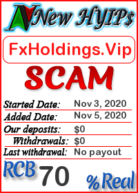 FxHoldings.Vip status: is it scam or paying