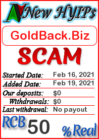 GoldBack.Biz status: is it scam or paying