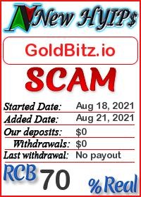 GoldBitz.io status: is it scam or paying